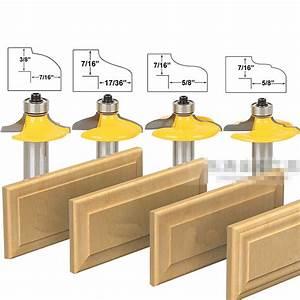 4 pcs Bit Drawer Front and Cabinet Door Front Router Bit
