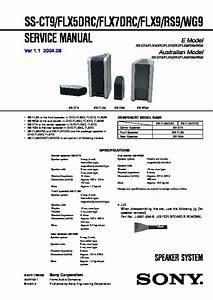 Sony Dhc-flx5d  Dhc-flx7d  Ws-flx9l Service Manual