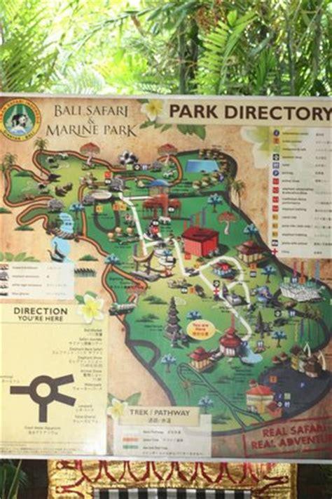 park map picture  bali safari marine park gianyar