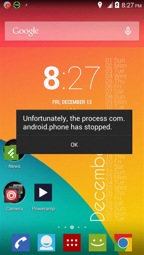 solved process android phone has stopped working error