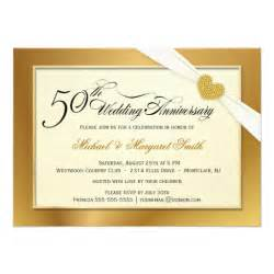 golden wedding anniversary invitations 50th golden wedding anniversary invitations zazzle