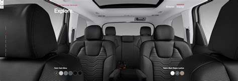 2020 Kia Telluride Ex Interior by 2020 Kia Telluride Fabric And Upholstery Options