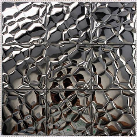 metal kitchen wall tiles metallic mosaic tile stainless steel tile patterns kitchen 7471