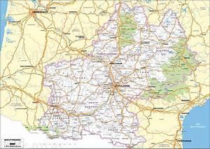 Carte Du Gers Détaillée : carte d taill e midi pyr n es archives voyages cartes ~ Maxctalentgroup.com Avis de Voitures