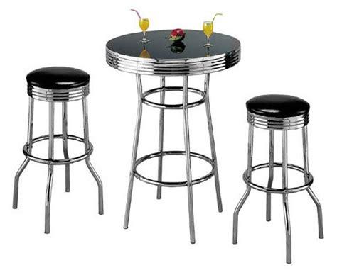 retro 3 chrome bar stools for really