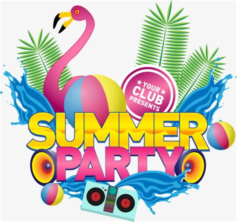 Vector summer party, Festival, Party, Club PNG and Vector for Free Download