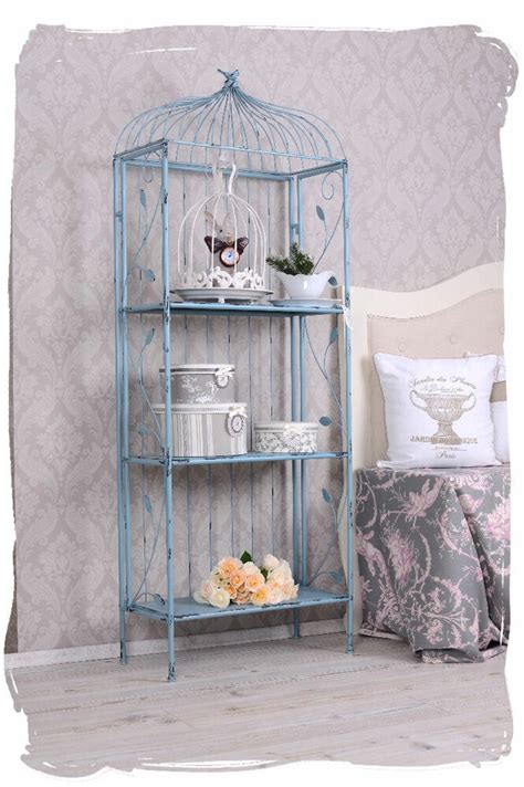 regal shabby chic regal eisenregal shabby chic b 252 cherregal antik metallregal einzelst 252 ck ebay
