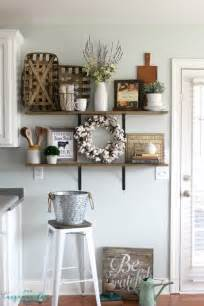 ideas to decorate kitchen decorating shelves in a farmhouse kitchen