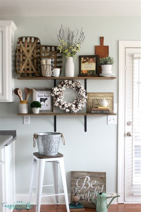 how to decorate your kitchen table decorating shelves in a farmhouse kitchen