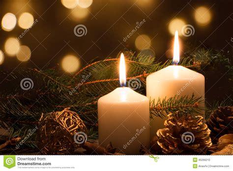 christmas candles  lights stock photo image
