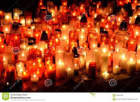 burning candles  graveyard stock image image