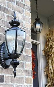 spray painting outdoor lights it works from thrifty With painting an outdoor light fixture