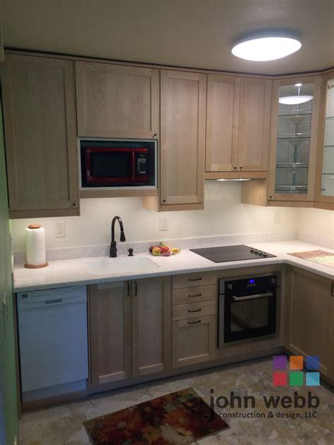 ikea custom kitchen cabinets sw barnes road ikea shaker cabinets in solid birch 4426