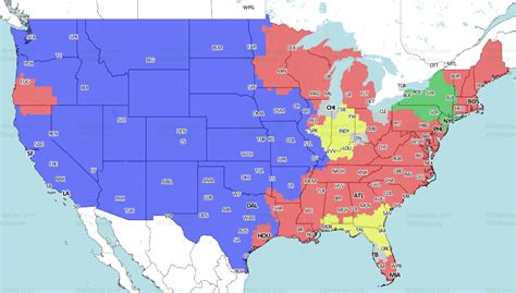 nfl week  coverage maps cardinalschiefs