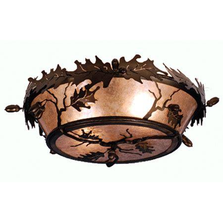 meyda  acorn oak leaf flush mount ceiling fixture