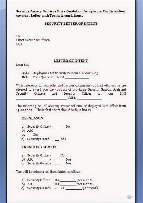 quotation acceptance letter format