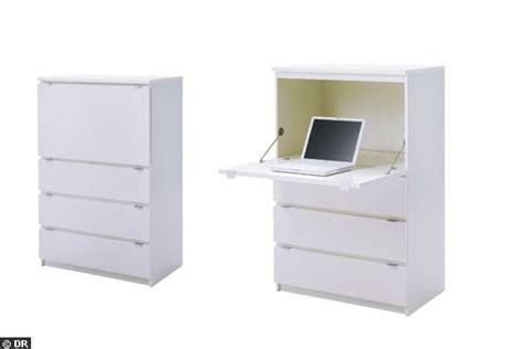 bureau ordinateur alinea table rabattable cuisine meubles blanc ikea