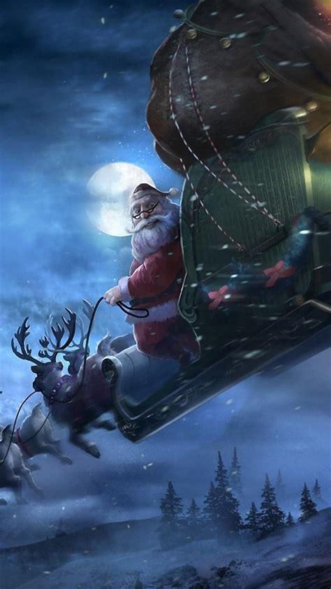 christmas santa claus sledge illustration android