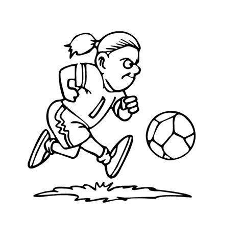 Kleurplaat Meiden Voetbal leuk voor meidenvoetbal