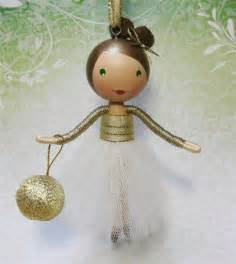 reserved for alicersu clothespin doll christmas tree ornament 2012