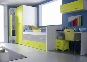 Lit Avec Armoire : acheter votre armoire dressing et lit tiroir avec bureau chez simeuble ~ Teatrodelosmanantiales.com Idées de Décoration
