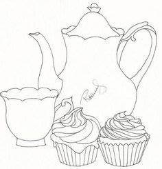 Teacup Mother S Day Card Template Sketching A Simple Teacup Teapot Template And Embroidery