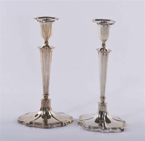candelieri in argento coppia di candelieri in argento antiquariato e dipinti