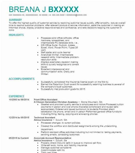 Office Assistant Resume Exles by Front Office Assistant Resume Bijeefopijburg Nl
