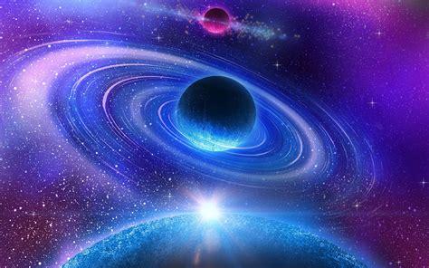 fonds decran beau univers planete bleue  uhd