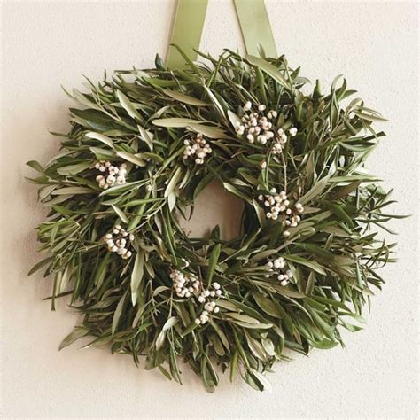 contemporary christmas wreaths olive wreath contemporary outdoor decor by vivaterra