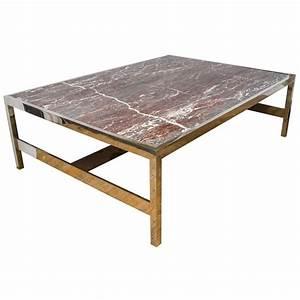 solid marble coffee and cocktail table on chrome base at With solid marble coffee tables for sale