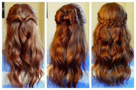 how to 3 easy half up hairstyles kathryn s katwalk
