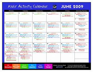 14 blank activity calendar template images printable With activity timetable template