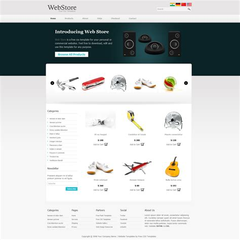 Template Webstore Free template 341 web store