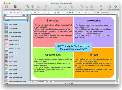 How To Create Swot Analysis Template Using Conceptdraw Pro