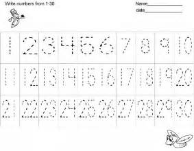 Tracing Numbers 1 30 Free Worksheets