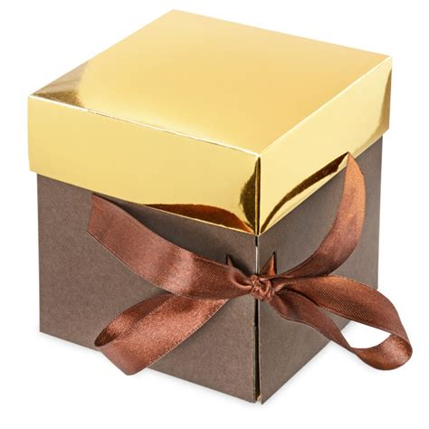 layers chocolate box  gold lid