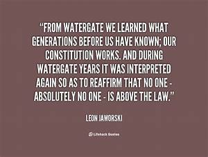 Leon Jaworski Q... Watergate Tape Quotes