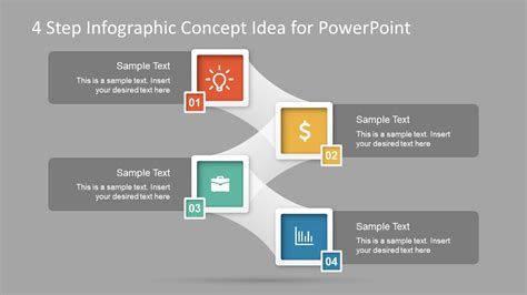 step infographic concept idea  powerpoint slidemodel