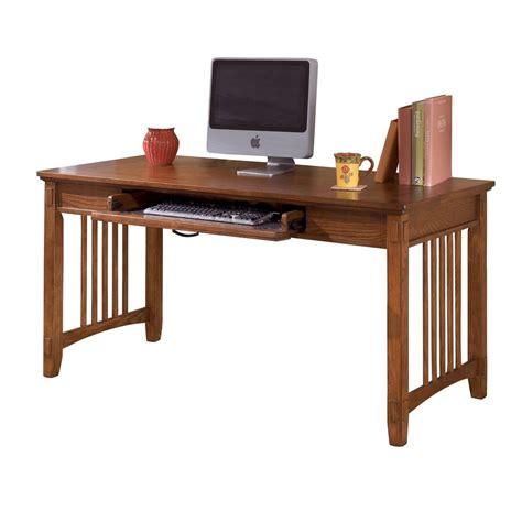 medium oak computer desk shop signature design by ashley cross island transitional