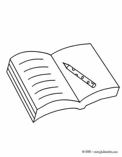 Dessin Cahier Colorear Coloriage Open Scolaire Cuaderno