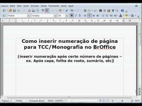como numerar e não numerar as paginas no tcc monograf