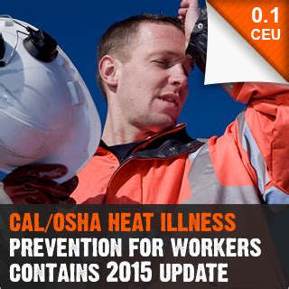 calosha heat illness prevention   industry workers