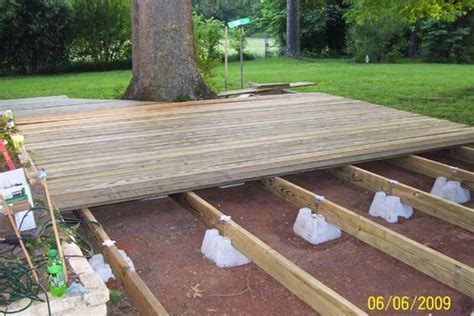 floating deck plans supports sold  lowes  home depot      pinterest