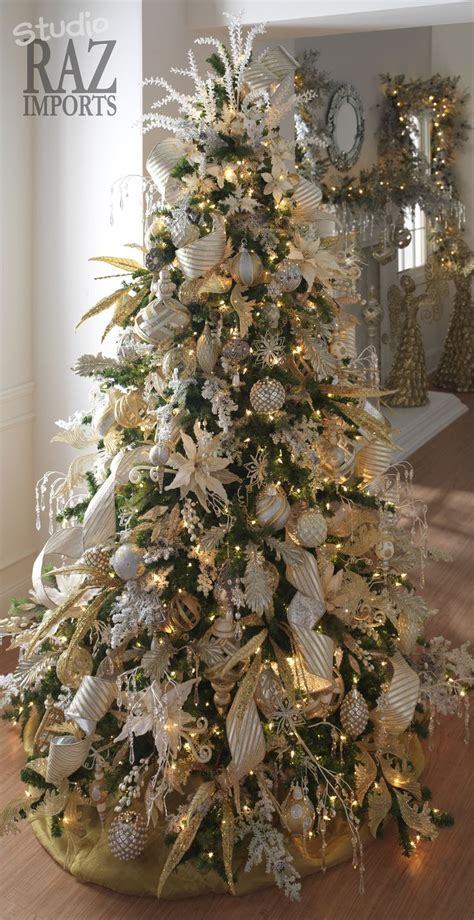 silver and christmas tree silver and gold decorated christmas trees christmas 6312