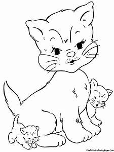 Realistic Cat Coloring Pages Bestofcoloringcom