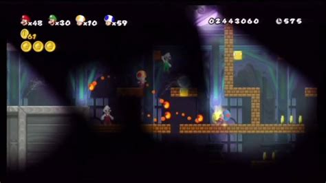 New Super Mario Bros Wii World 5 Ghost House Second
