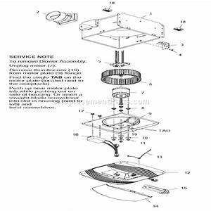 Broan Qtr100flt Parts List And Diagram   Ereplacementparts Com