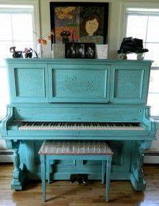 Painted Vintage Piano Blue | From BREAD&BURROW | Pinterest ...