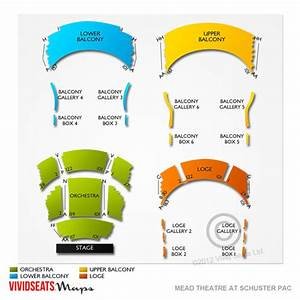 Vivid Seats Seating Chart Mead Theatre At Schuster Pac Seating Chart Vivid Seats